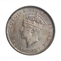 """Британская Восточная Африка 50 центов 1937 г. H, UNC, """"Король Георг VI (1937 - 1952)"""""""