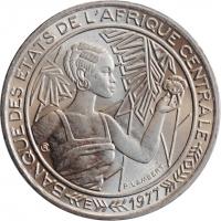 "Центральная Африка (BEAC) 500 франков 1977 г. E, BU, ""Франк КФА BEAC (1973 - 2019)"""