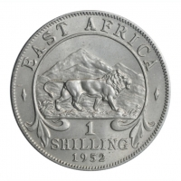 """Британская Восточная Африка 1 шиллинг 1952 г., UNC, """"Король Георг VI (1937 - 1952)"""""""