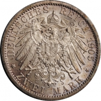 """Шварцбург-Зондерсгаузен 2 марки 1905 г., UNC, """"25 лет правлению Карла Гюнтера"""""""