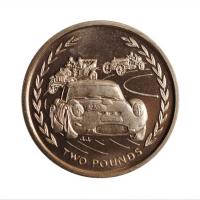 """Остров Мэн 2 фунта 1996 г., BU, """"Королева Елизавета II (1970 - 2019)"""""""
