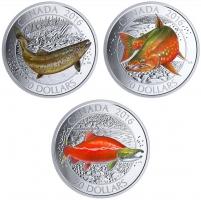"""Канада набор 20 долларов 2016 г., PROOF, """"Канадские лососевые"""""""