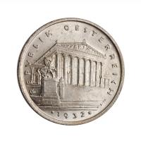 """Австрия 1 шиллинг 1932 г., BU, """"Первая Республика (Шиллинг) (1925 - 1938)"""""""