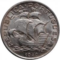 """Португалия 10 эскудо 1940 г., UNC, """"Португальская Республика (1911 - 1969)"""""""