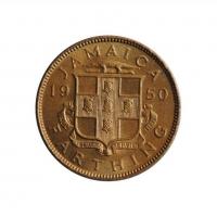 "Ямайка 1 фартинг 1950 г., UNC, ""Король Георг VI 1937 - 1952"""