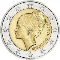Монако 2 евро 2007 г., UNC, 'Принцесса Монако Грейс Келли'