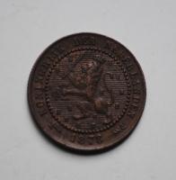 Нидерланды 1 цент 1878 г., РЕДКОЕ СОСТОЯНИЕ