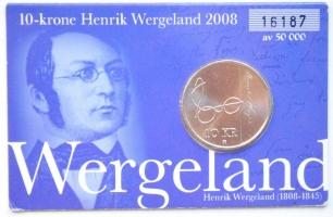 Норвегия 10 крон 2008 г., 'Генрик Вергелан', BU