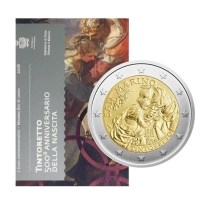 Сан-Марино 2 евро 2018 г., BU, '500 лет со дня рождения Джакопо Тинторетто'