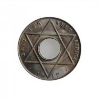 """Британская Западная Африка 1/10 пенни 1917 г. H, BU, """"Король Георг V (1910 - 1936)"""""""