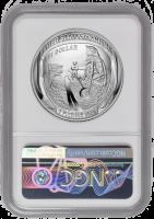 """США 1 доллар 2019 г., NGC MS69, """"50 лет Космической программе Аполлон-11"""""""