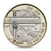 """Великобритания 2 фунта 2017 г., BU, """"Авиация в Первой мировой войны"""""""
