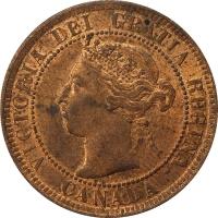"Канада 1 цент 1900 г. H, UNC, ""Королева Виктория (1858 - 1901)"""