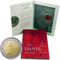 Сан-Марино 2 евро 2015 г., BU, '750 лет со дня рождения Данте Алигьери'