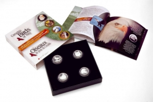 Канада набор 50 центов 2000 г., PROOF, 'Хищные птицы Канады'