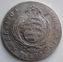 Саксония талер 1808 г., 'Король Фридрих Август І (1806-1827)', СОСТОЯНИЕ