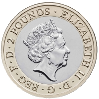 """Великобритания 2 фунта 2020 г., BU, """"250 лет кругосветному путешествию Джеймса Кука"""""""